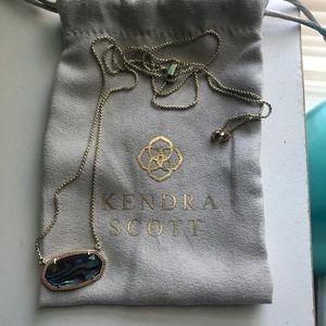 Kendra Scott Abalone Shell Necklace